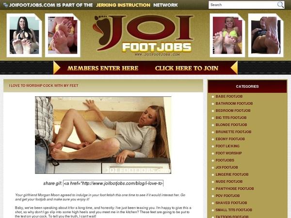 JOI Footjobs Web Billing