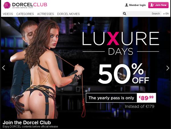 Dorcelclub.com Paypal Option